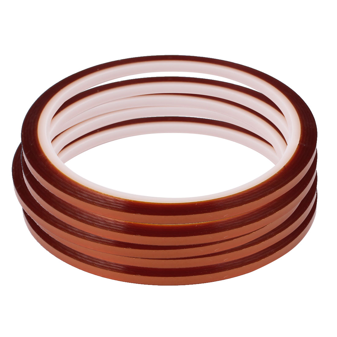 5pcs 3mm Width 33M Length High Temperature Heat Resistant Polyimide Tape