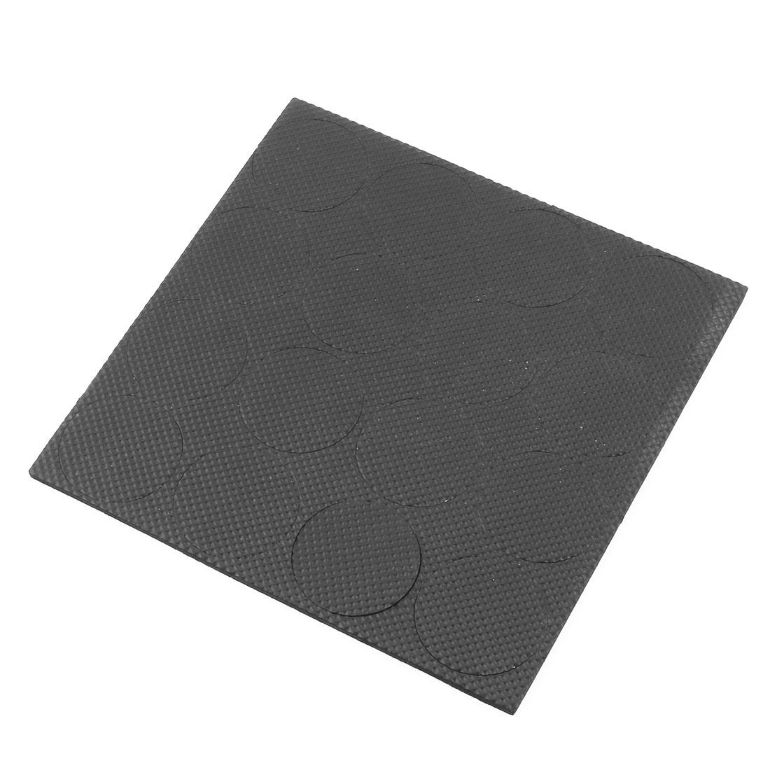 Furniture Rubber Round Anti Slip Protector Self Adhesive Pads Mats Black 16pcs
