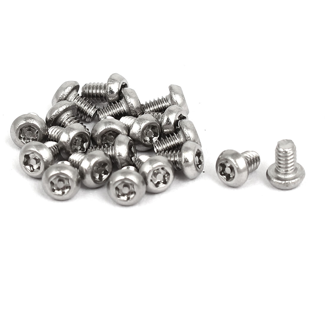 M2x3mm 304 Stainless Steel Button Head Torx Security Machine Screws 20pcs