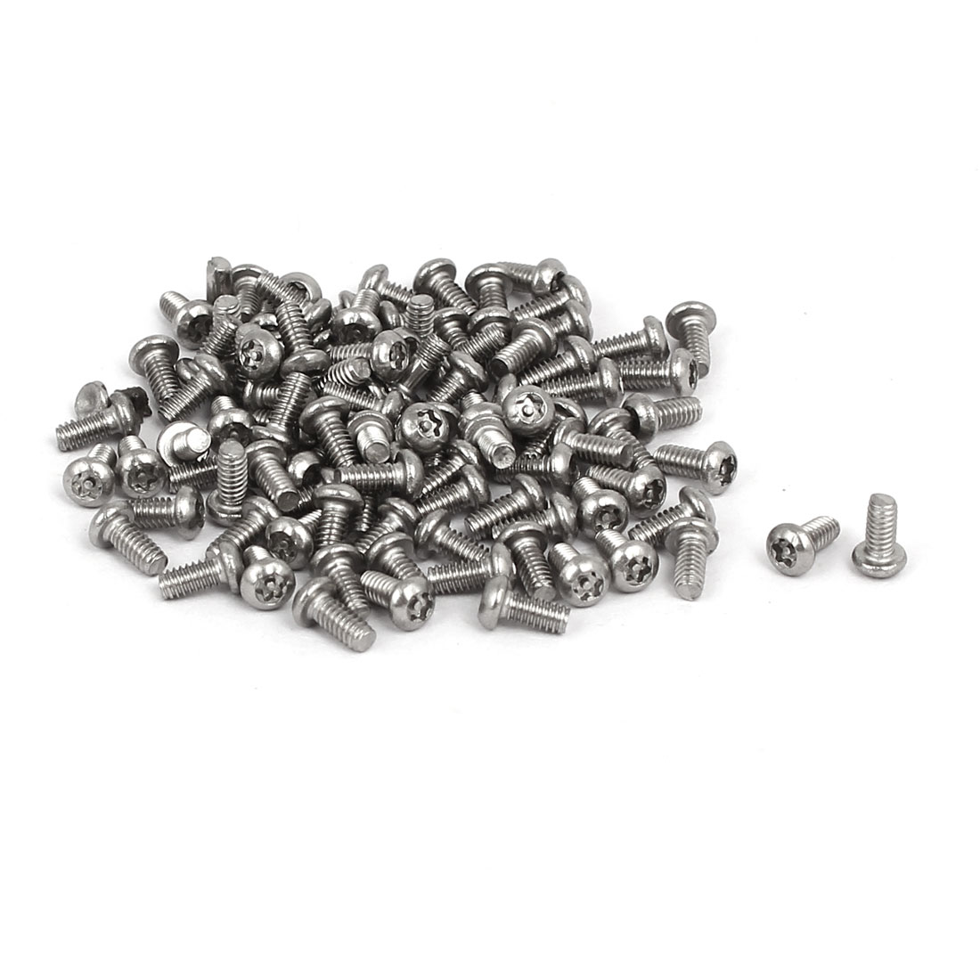 M2x4mm 304 Stainless Steel Button Head Torx Security Machine Screws 100pcs