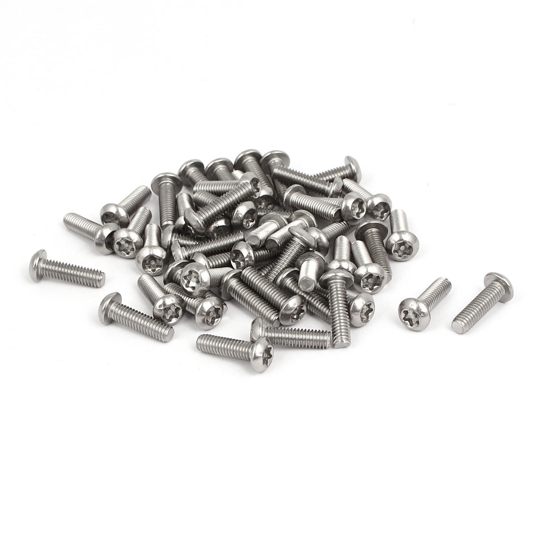M4x14mm 304 Stainless Steel Button Head Torx Tamper Resistant Screws 50pcs