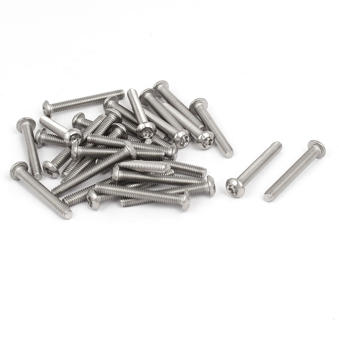 M4x30mm 304 Stainless Steel Button Head Torx Tamper Resistant Screws 30pcs