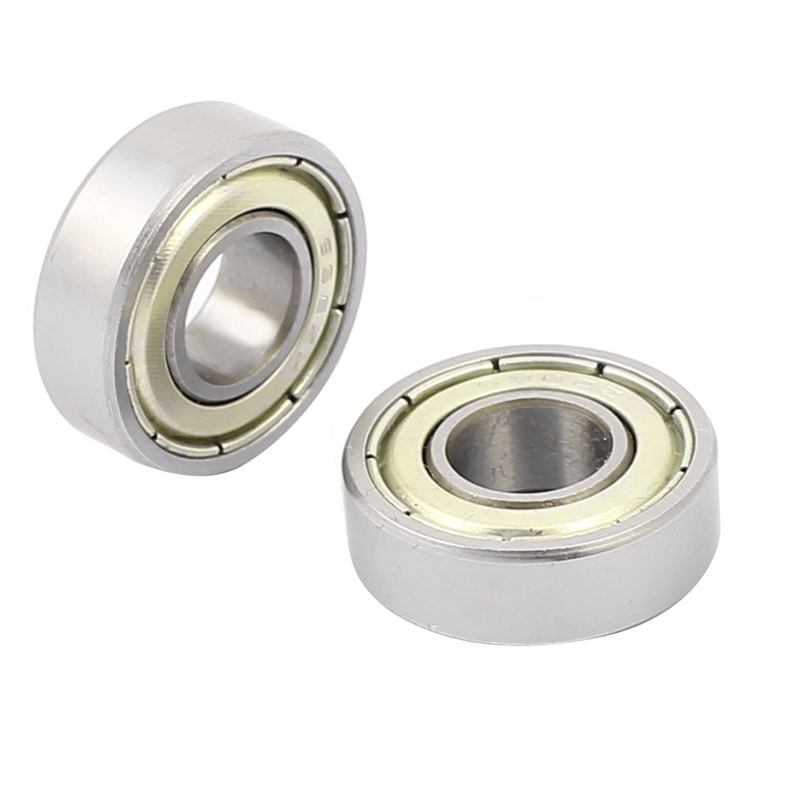 Metal Deep Groove Sealed Shielded Ball Bearing 8mmx19mmx6mm Silver Tone
