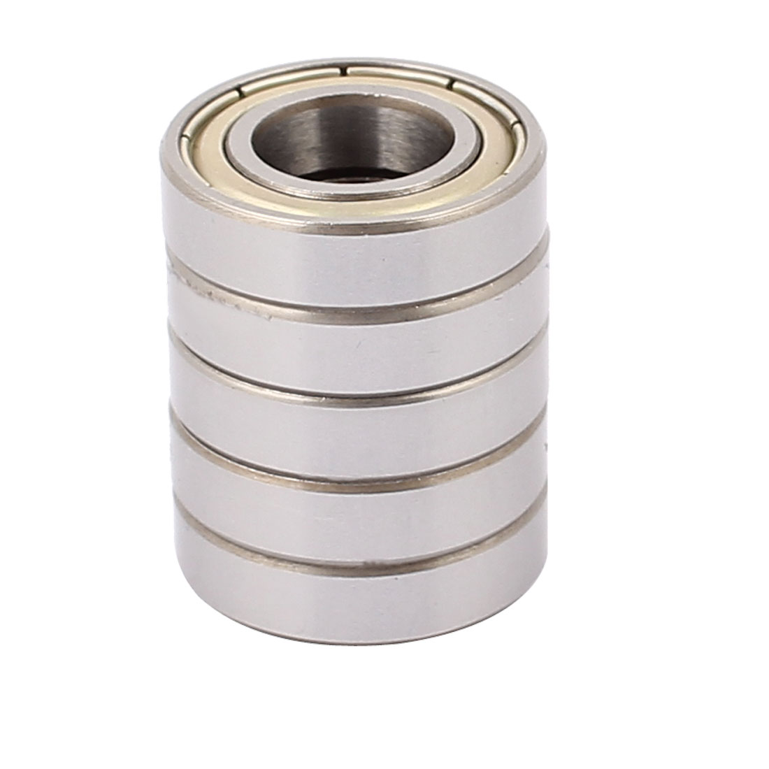 5Pcs 6901Z Deep Groove Sealed Shielded Ball Bearing Silver Tone 12mmx24mmx 6mm