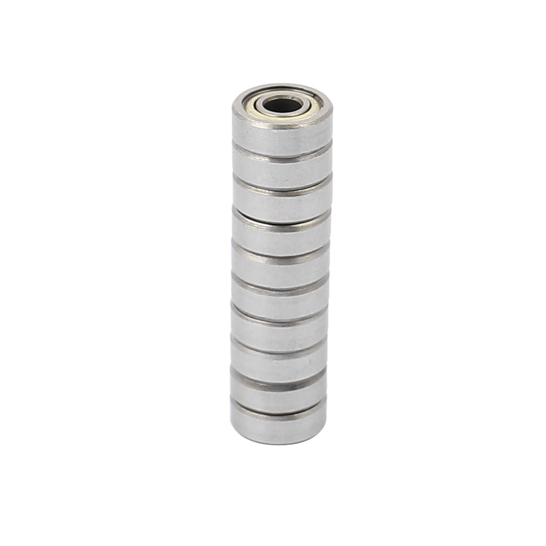 10pcs Metal Deep Groove Sealed Shielded Ball Bearing 4mmx11mmx4mm Silver Tone