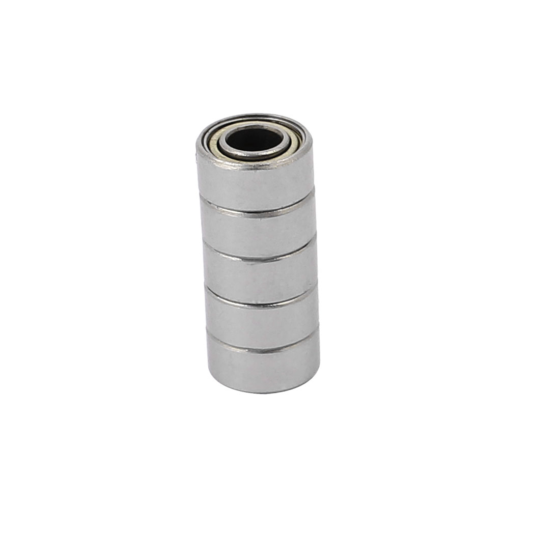 5pcs Metal Deep Groove Sealed Shielded Ball Bearing 5mmx11mmx5mm Silver Tone