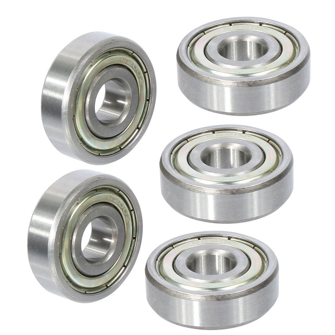6200z Iron Non-noise Low Speeding Deep Groove Bearing Ball 10 x 30 x 9mm 5pcs