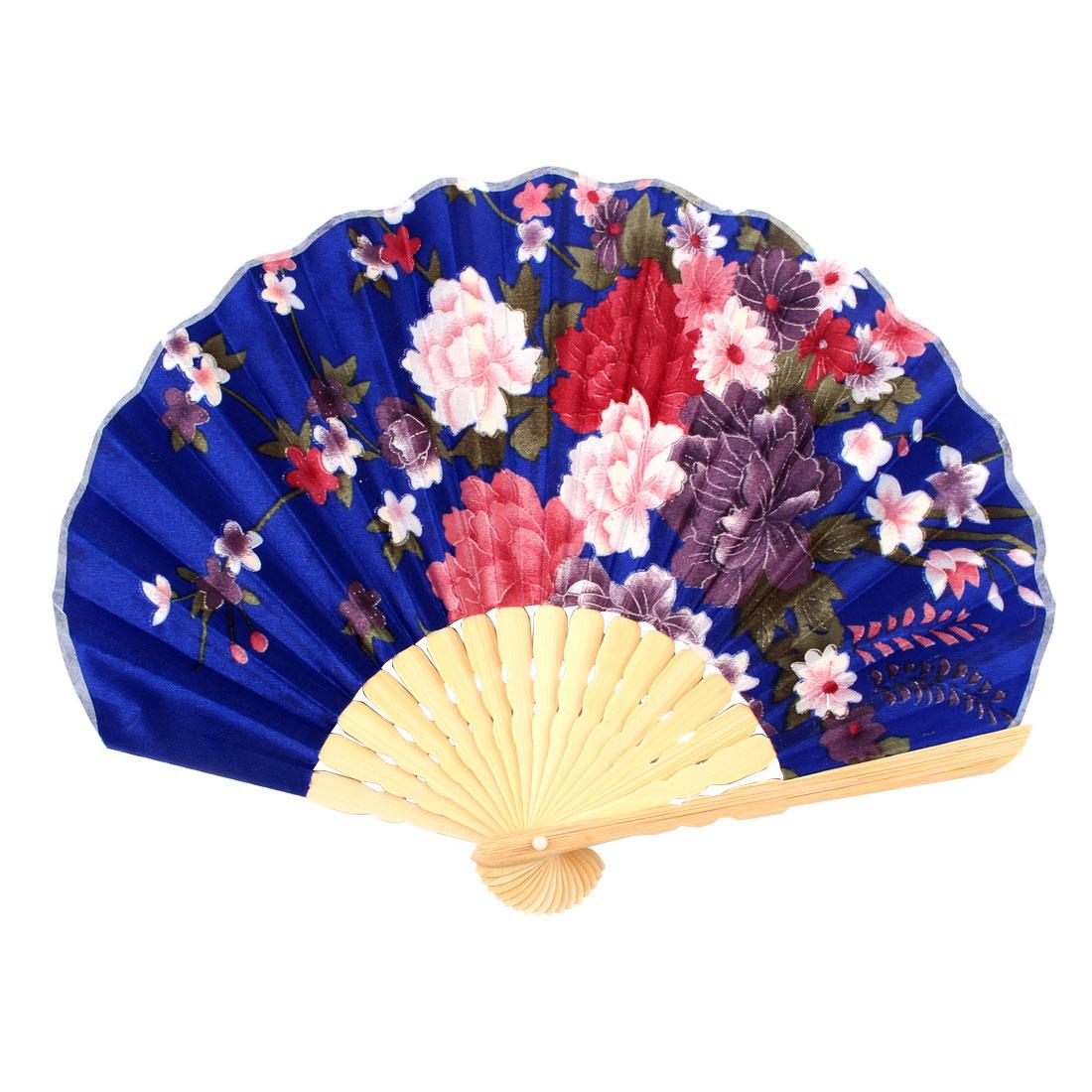 Ladies Summer Blossom Printed Hand-held Folding Dancing Hand Fan Craft