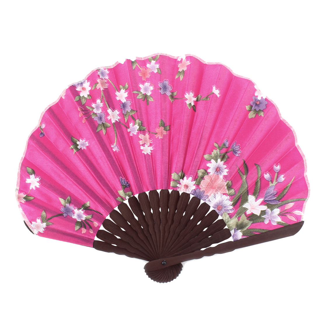 Ladies Summer Flowering Prints Hand-held Folding Dancing Hand Fan Craft