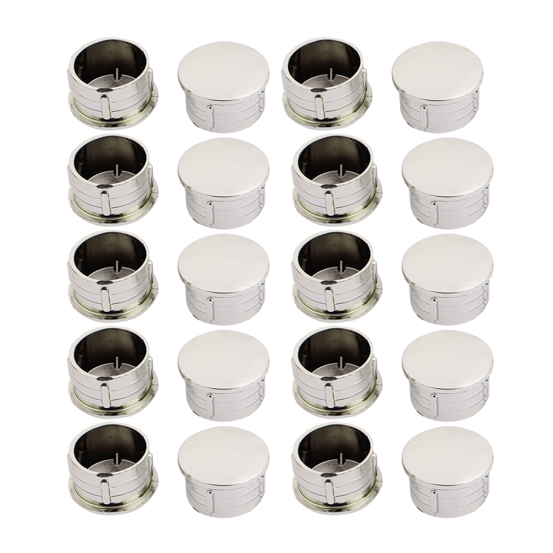 Furniture Round Flush Mount Cable Connector Hole Covers 25mm Dia 20pcs