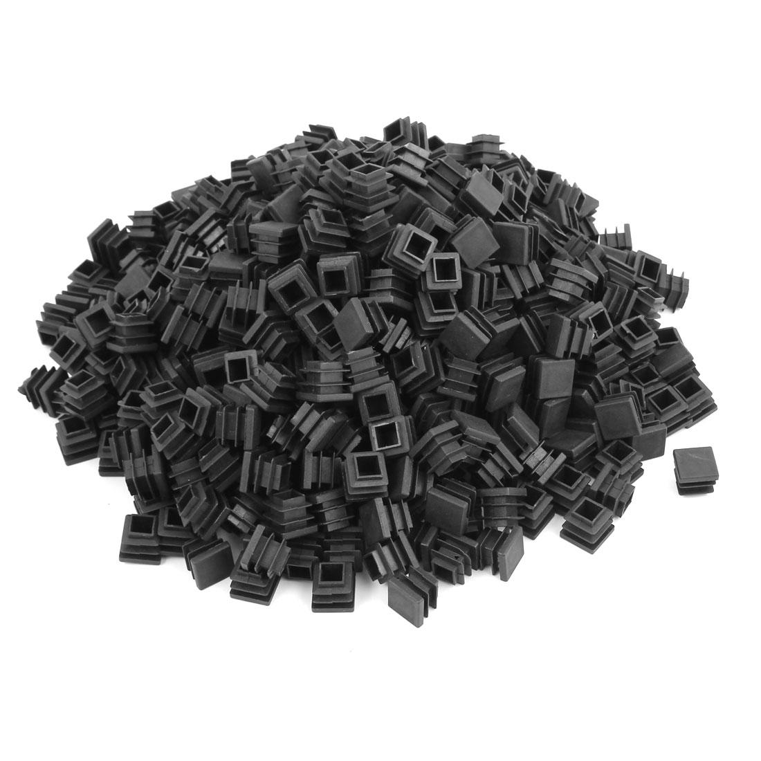 Plastic Square Tube Pipe Inserts End Blanking Caps Black 16mmx16mm 500pcs