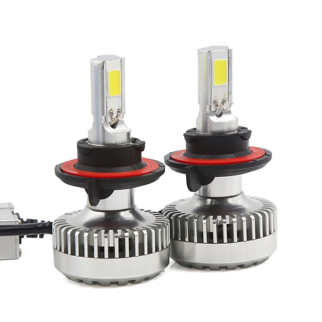2 x 40W H13 9008 COB LED Headlight Bulbs Kit 6000K 4000LM + LED Canbus Kit (1 pair)