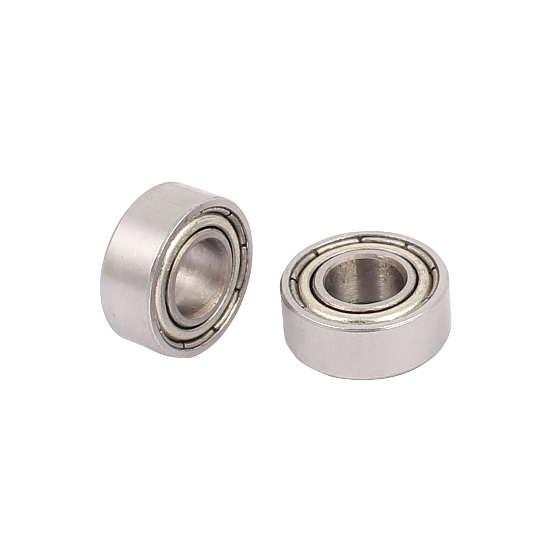 S686Z Double Shielded Deep Groove Ball Bearing Silver Tone 13mmx6mmx5mm 2pcs