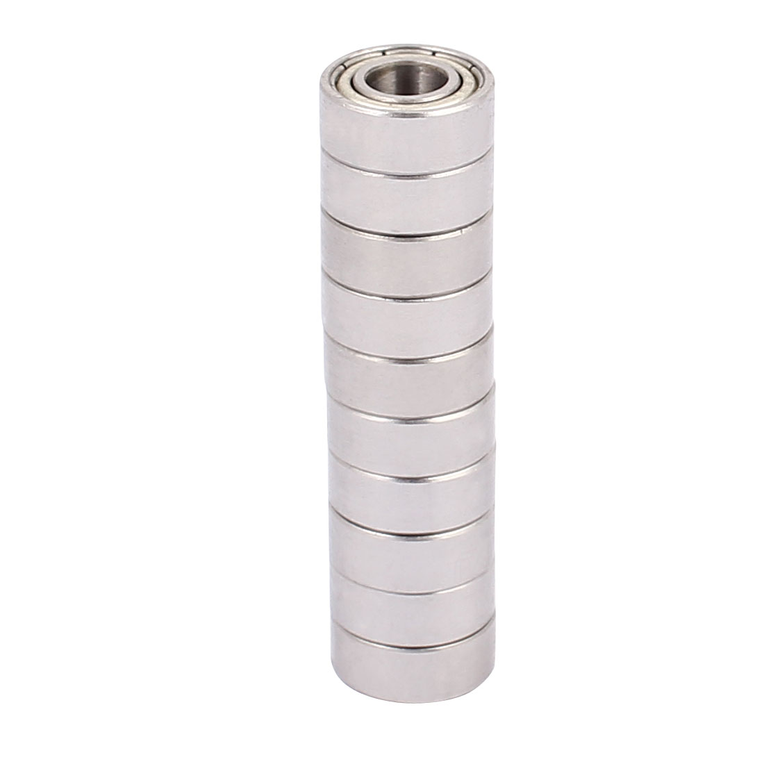 S686Z Double Shielded Deep Groove Ball Bearing Silver Tone 13mmx6mmx5mm 10pcs