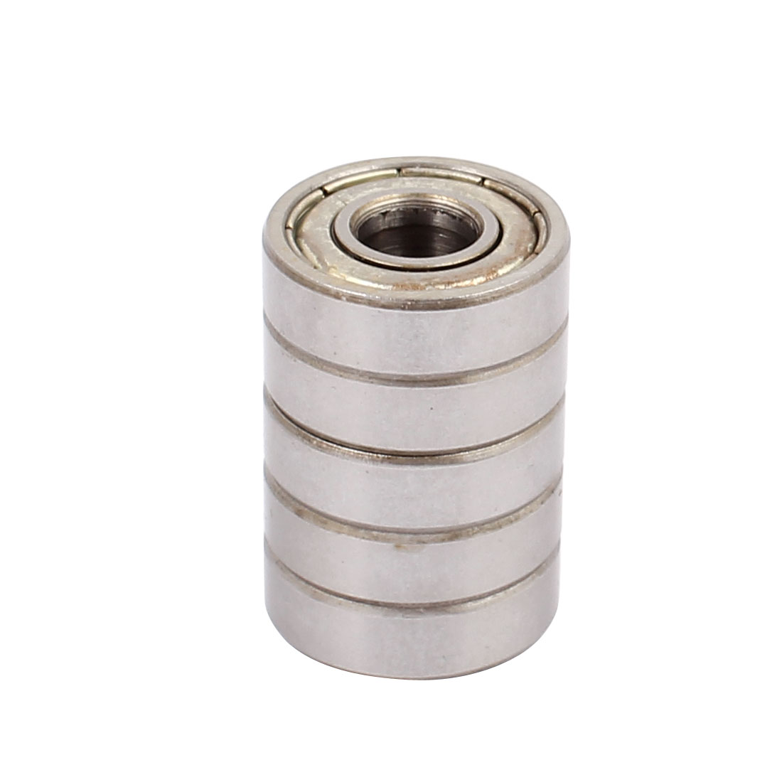 S609Z Double Shielded Deep Groove Ball Bearing Silver Tone 24mmx9mmx7mm 5pcs