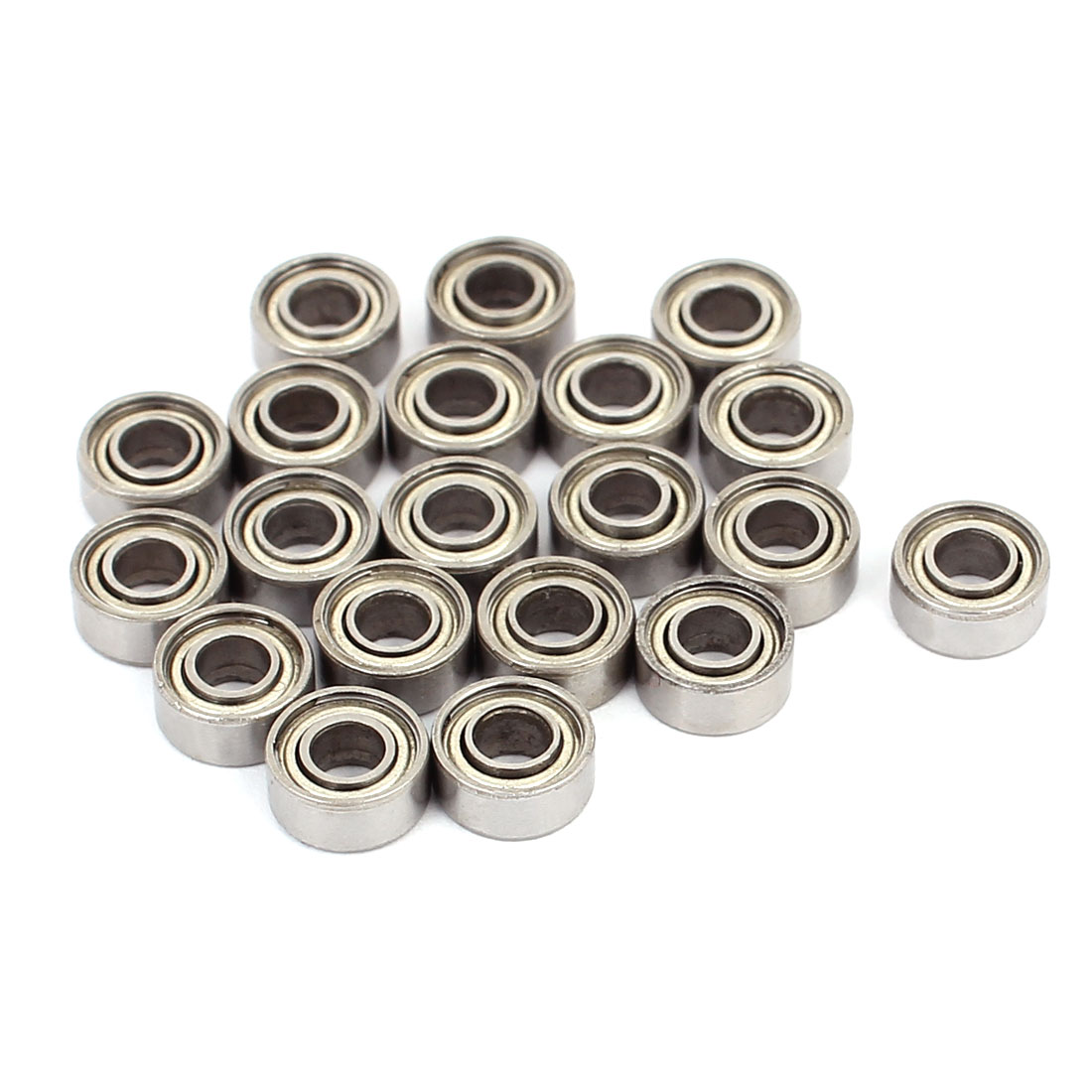 683ZZ Double Shielded Deep Groove Ball Bearing Silver Tone 7mmx3mmx3mm 20pcs