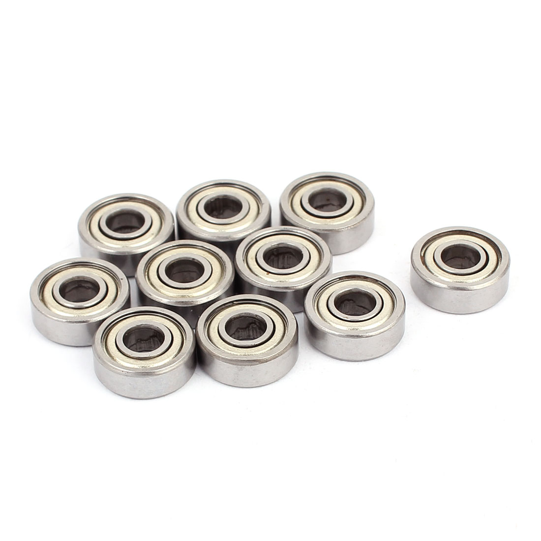 605Z Double Shielded Deep Groove Ball Bearings Silver Tone 14mmx5mmx5mm 20pcs