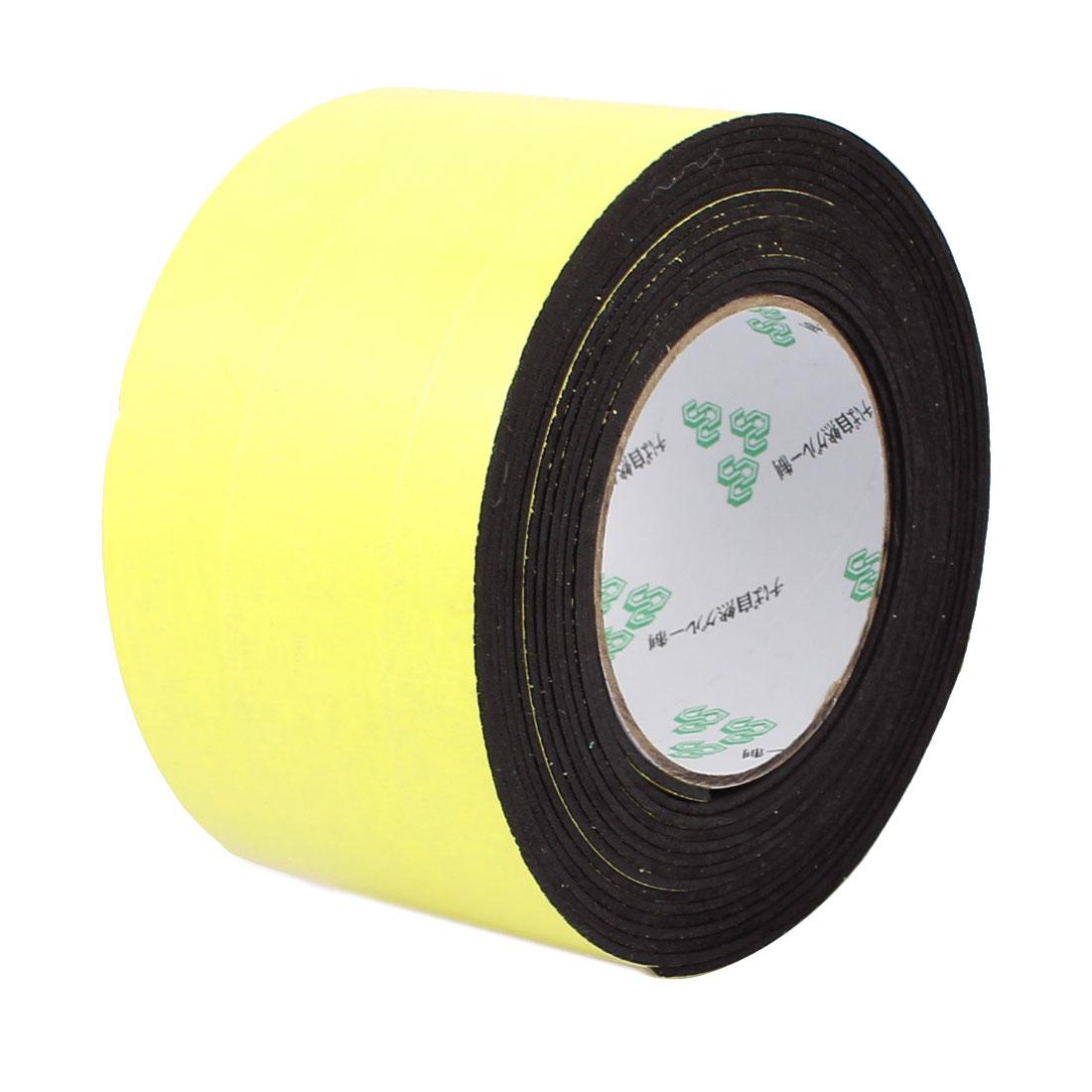 80mm x 2mm Single Sided Self Adhesive Shockproof Sponge Foam Tape 5M Length