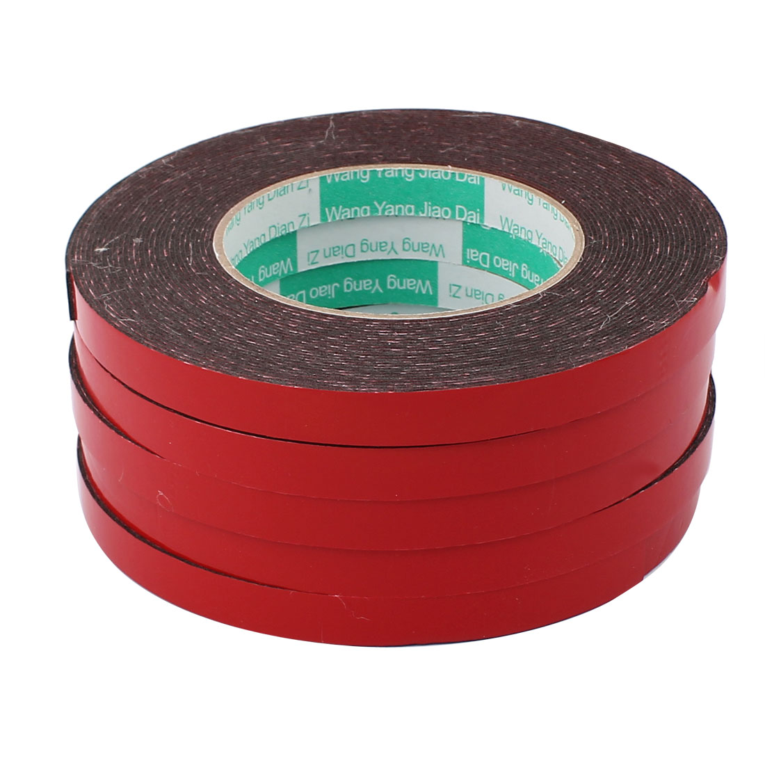 5pcs 12mm x 1mm Double Sided Self Adhesive Shockproof Sponge Foam Tape 10M Long