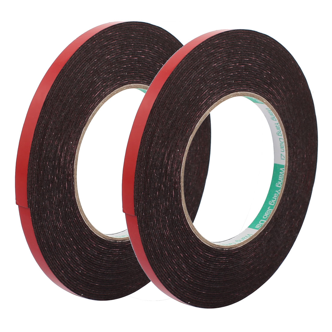 2pcs 8mm x 1mm Double Sided Self Adhesive Shockproof Sponge Foam Tape 10M Length