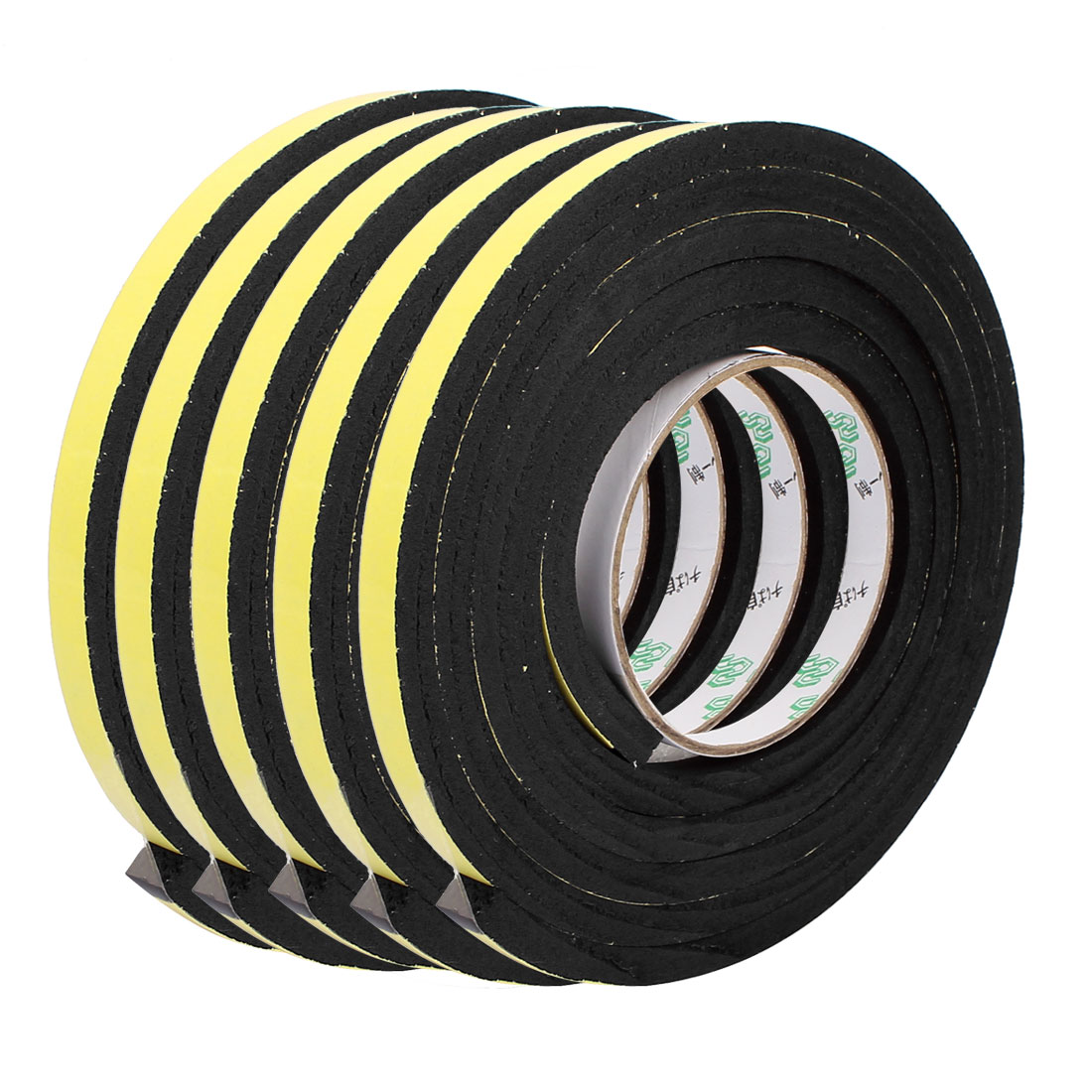 5pcs 10mm x 8mm Single Sided Self Adhesive Shockproof Sponge Foam Tape 2M Length