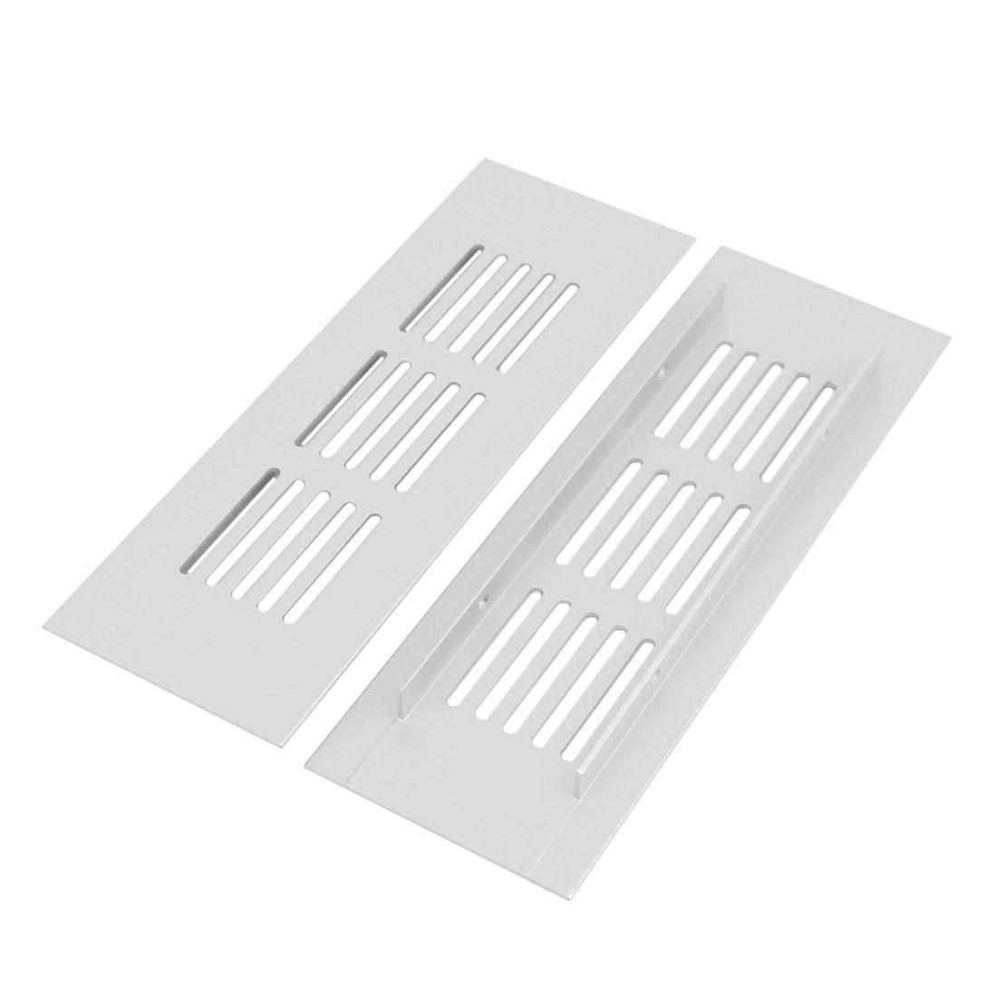Wardrobe Cabinet Aluminum Alloy Air Vent Ventilation Grille 150mmx50mmx9mm 2pcs