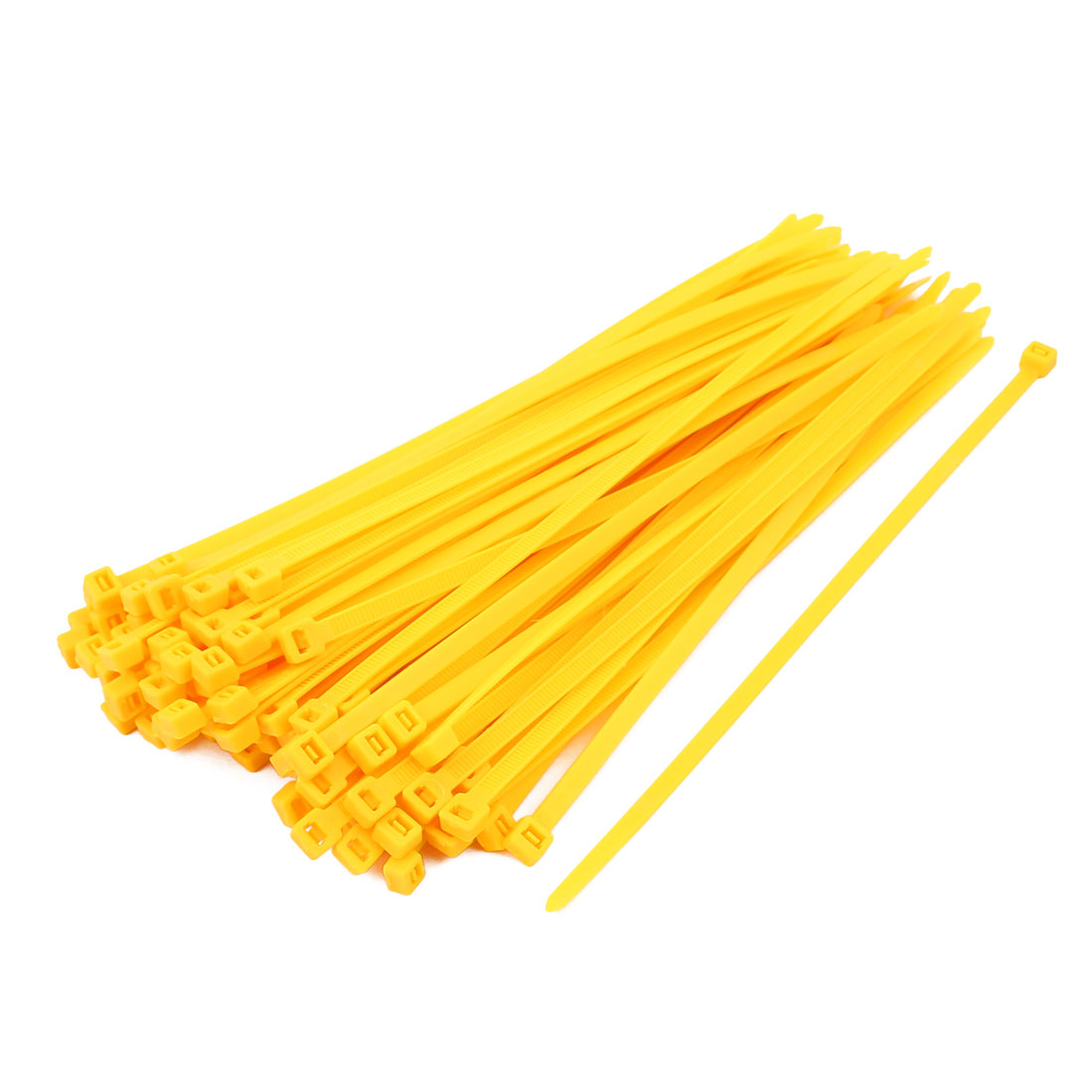 5mm x 200mm Self Locking Nylon Cable Ties Heavy Industrial Wire Zip Ties Yellow 100pcs