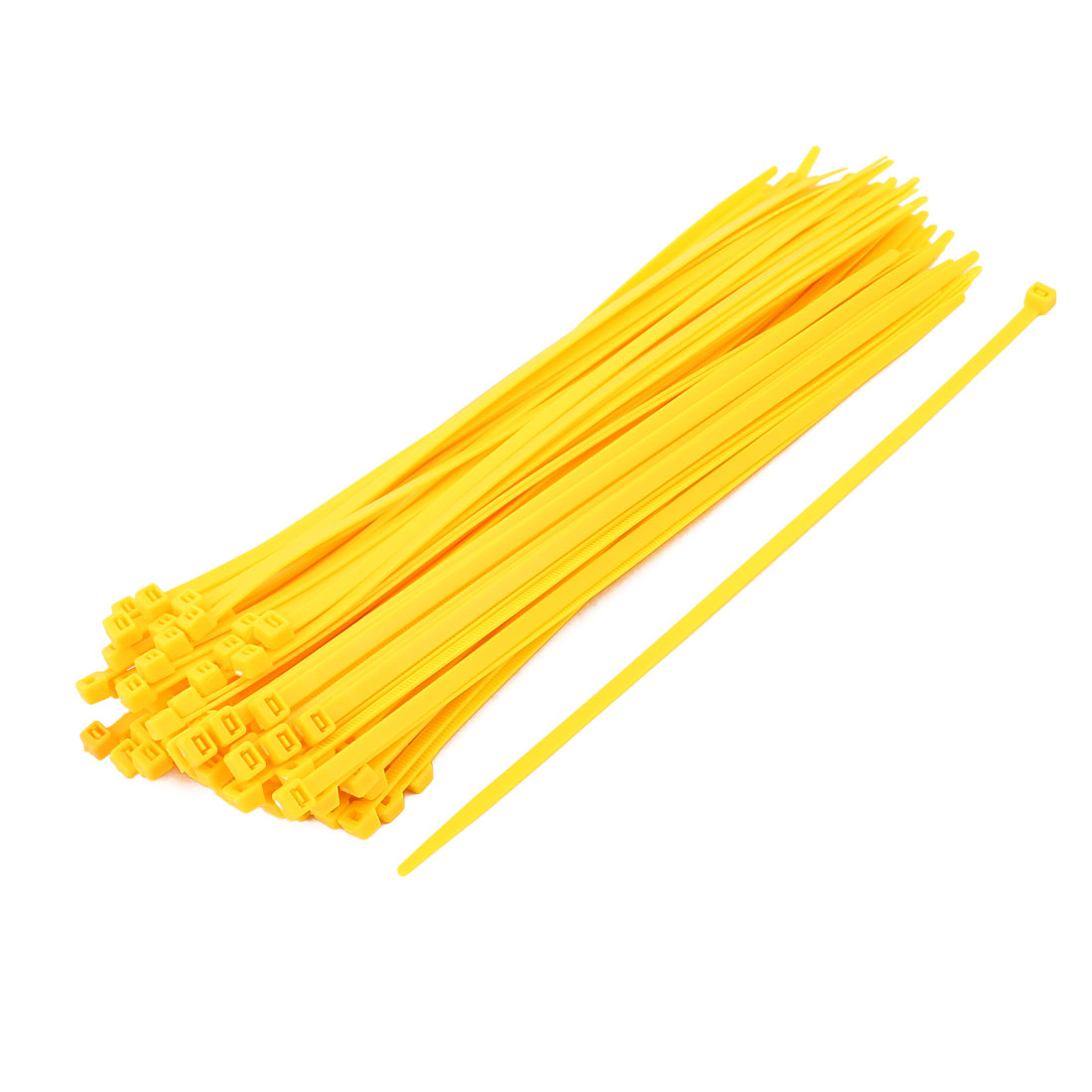5mm x 250mm Self Locking Nylon Cable Ties Industrial Wire Zip Ties Yellow 100pcs