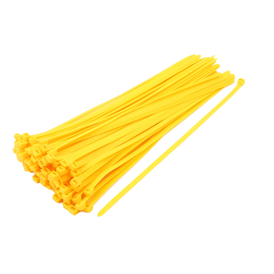 8mm x 350mm Self Locking Nylon Cable Ties Industrial Wire Zip Ties Yellow 100pcs