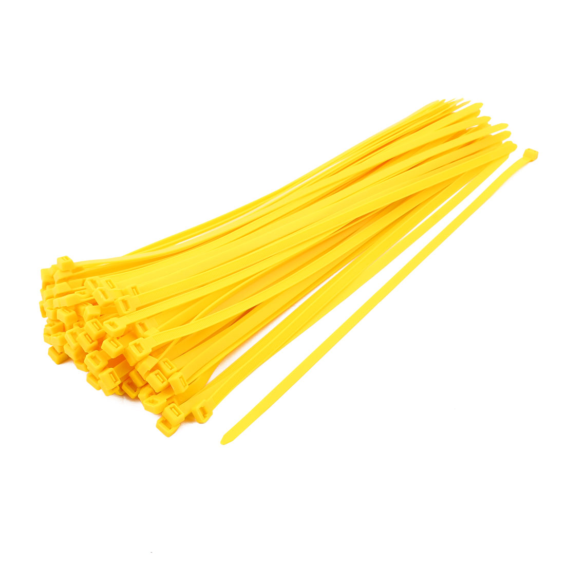 8mm x 400mm Self Locking Nylon Cable Ties Industrial Wire Zip Ties Yellow 100pcs