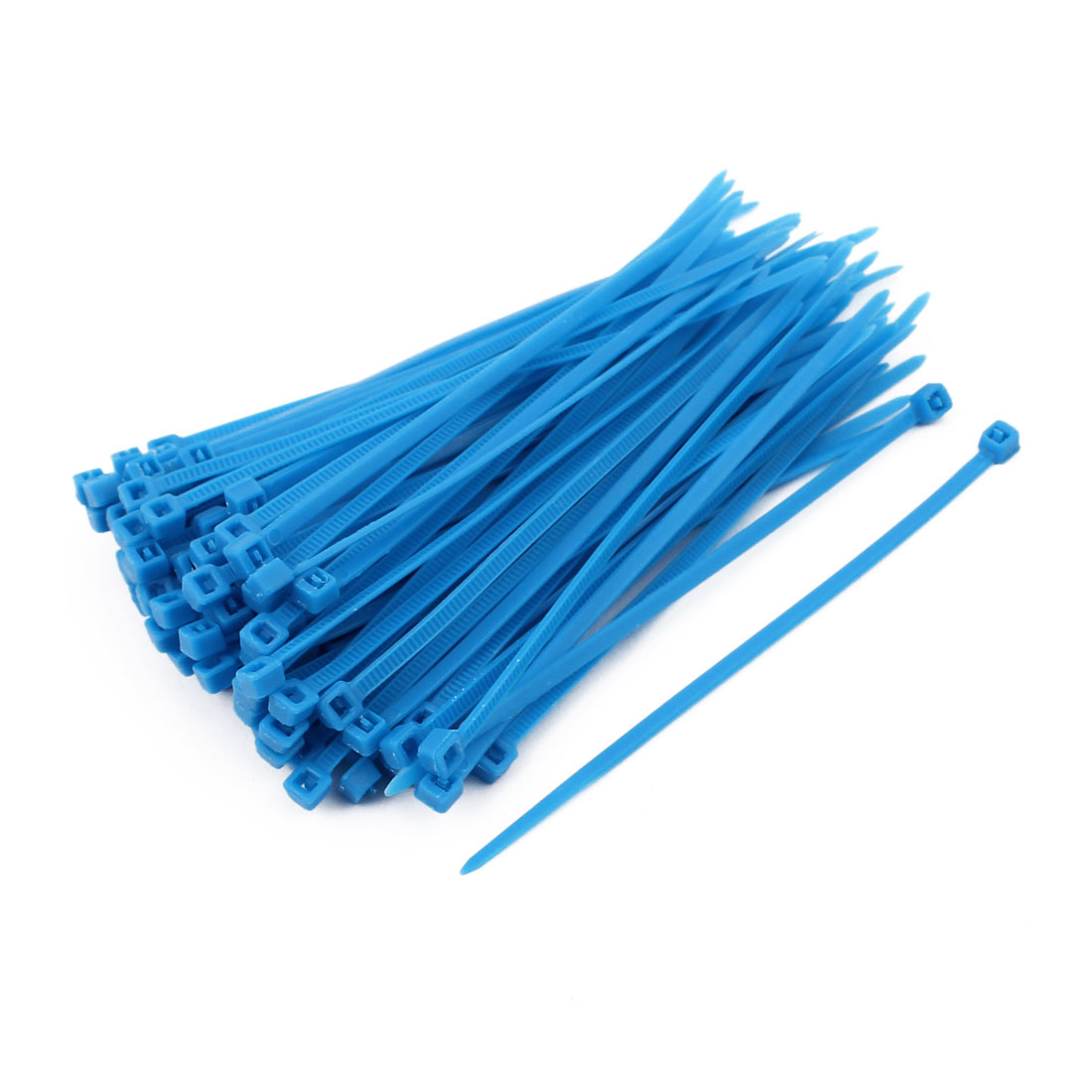 3mm x 100mm Self Locking Nylon Cable Ties Heavy Industrial Wire Zip Ties Blue 100pcs