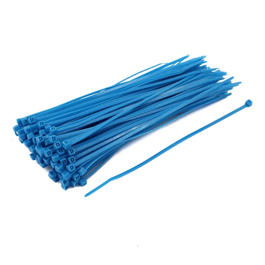 3mm x 150mm Self Locking Nylon Cable Ties Industrial Wire Zip Ties Blue 100pcs