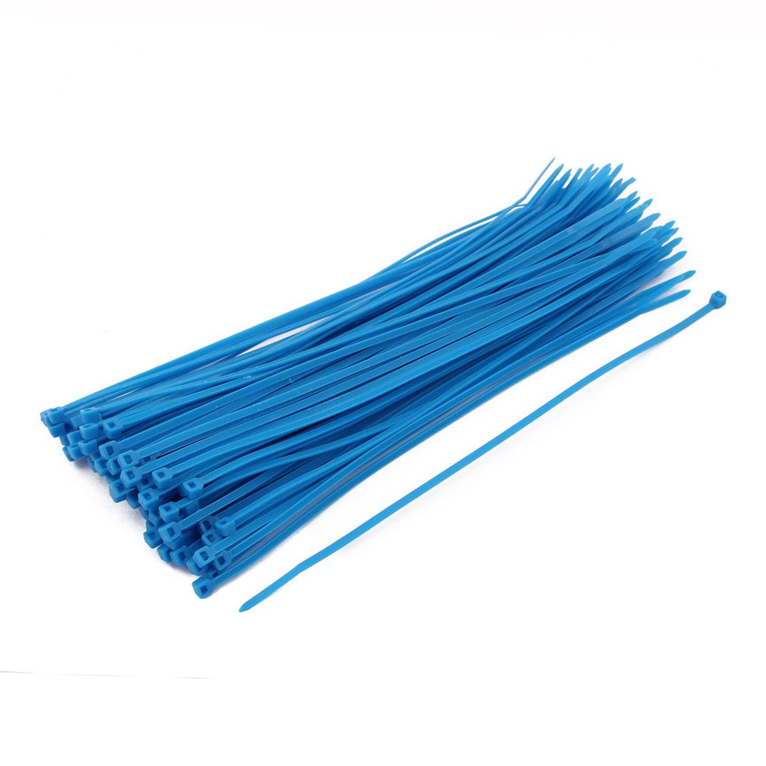 3mm x 200mm Self Locking Nylon Cable Ties Industrial Wire Zip Ties Blue 100pcs
