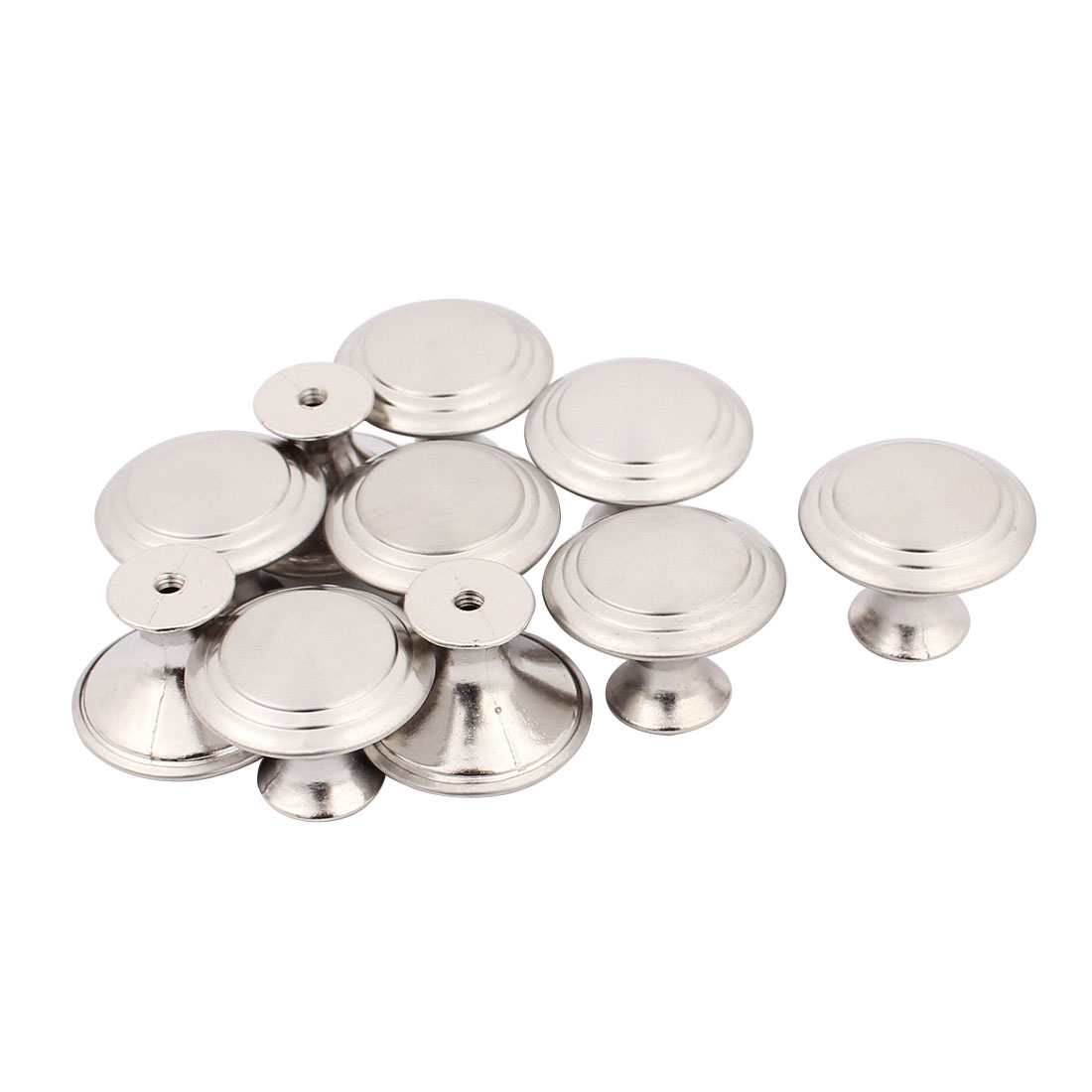 Household Closet Chest Stainless Steel Single Hole Pull Knobs 27.5mmx22mm 10pcs