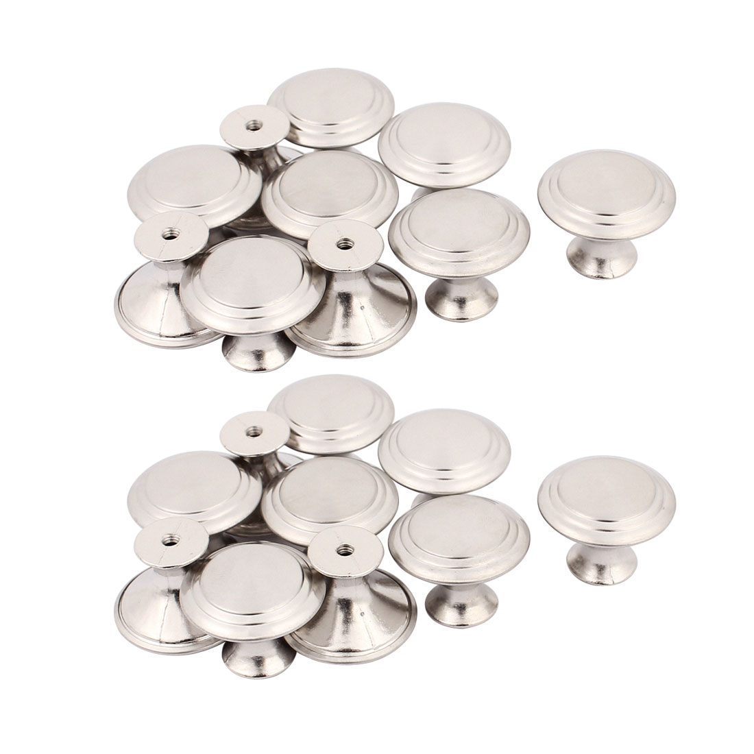 Household Closet Chest Stainless Steel Single Hole Pull Knobs 27.5mmx22mm 20pcs