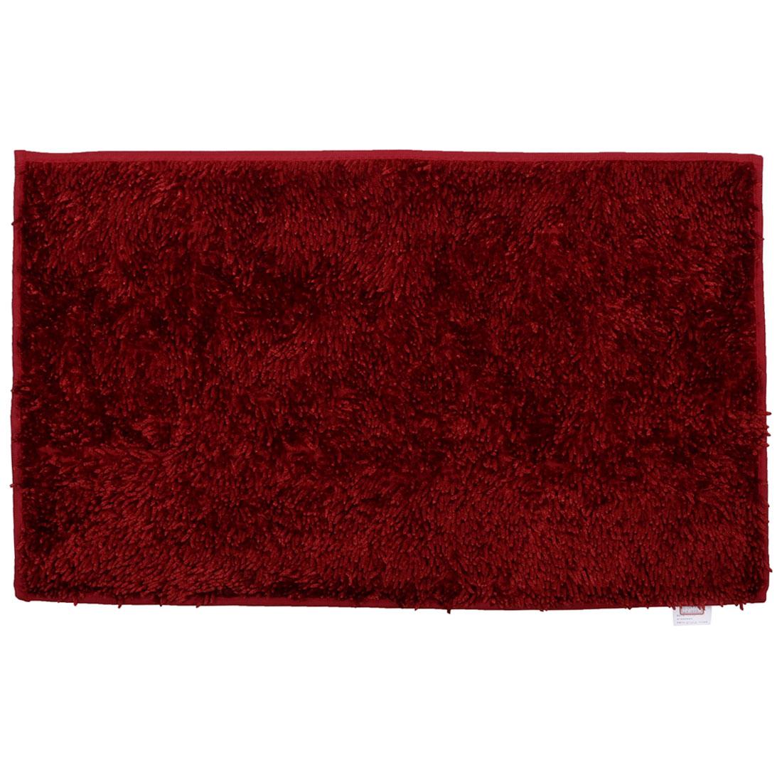 Home Bathroom Non Slip Absorbent Bath Rug Mat Shower Carpet Red 32 x 20 Inches