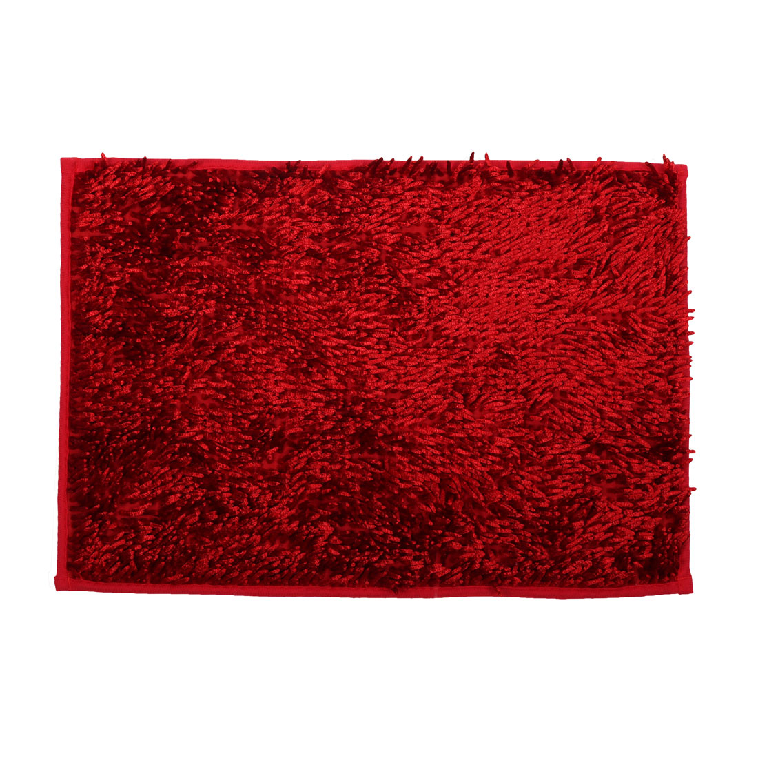 Household Bathroom Slip Resistant Absorbent Carpet Bath Rug Mat Red 24 x 16 Inches