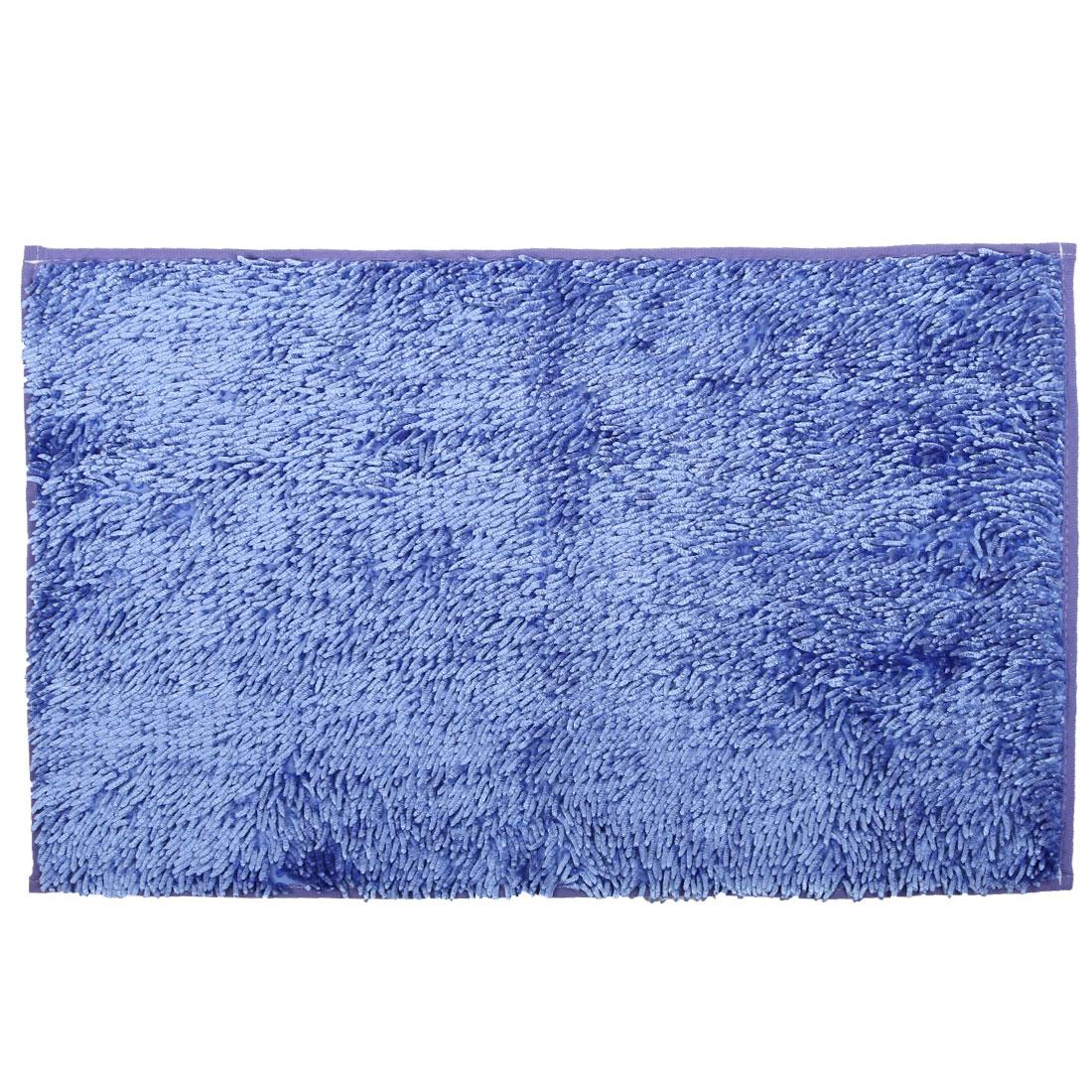 Home Bathroom Non Slip Absorbent Bath Rug Mat Shower Carpet Blue 32 x 20 Inches