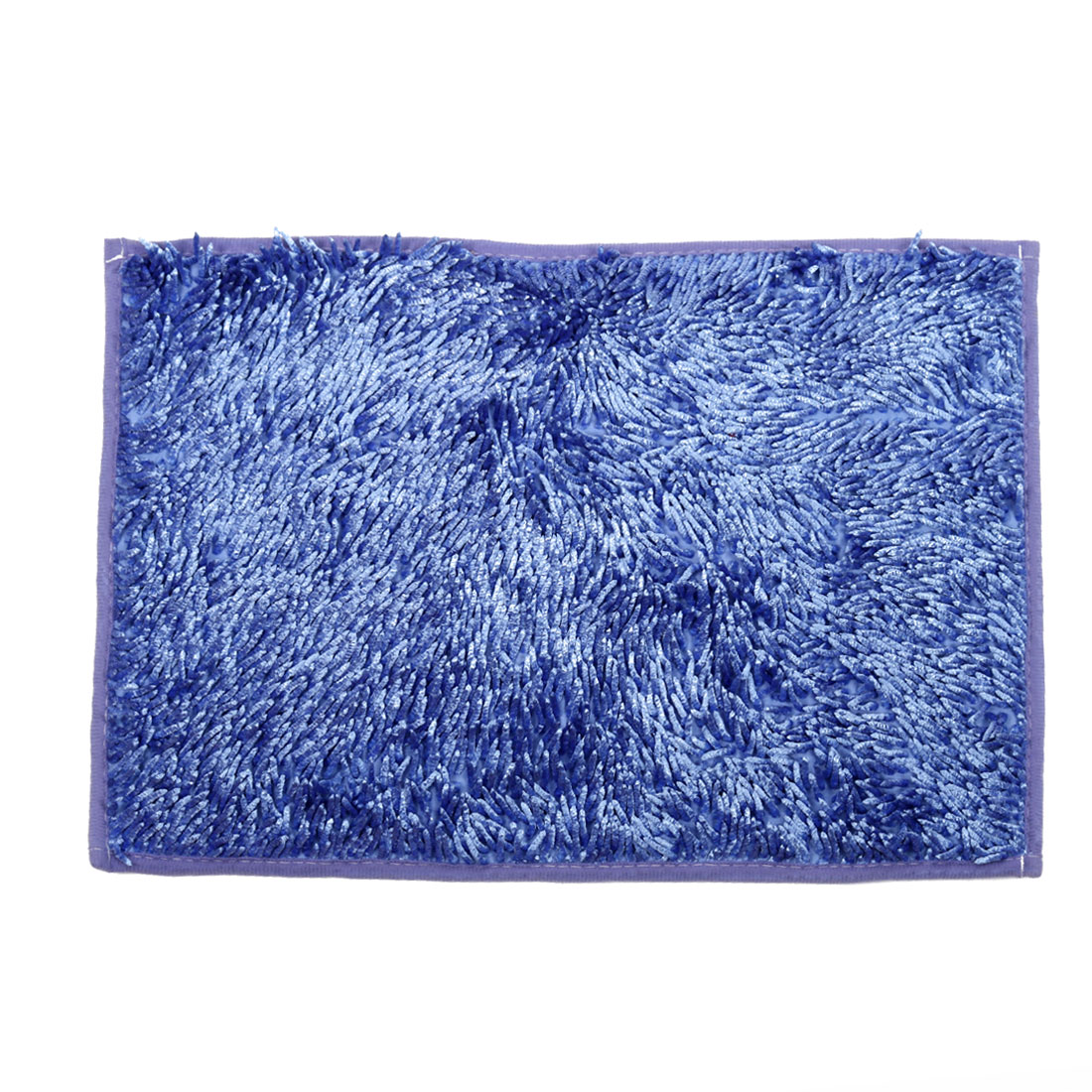 Home Bathroom Slip Resistant Absorbent Carpet Bath Rug Mat Blue 24 x 16 Inches