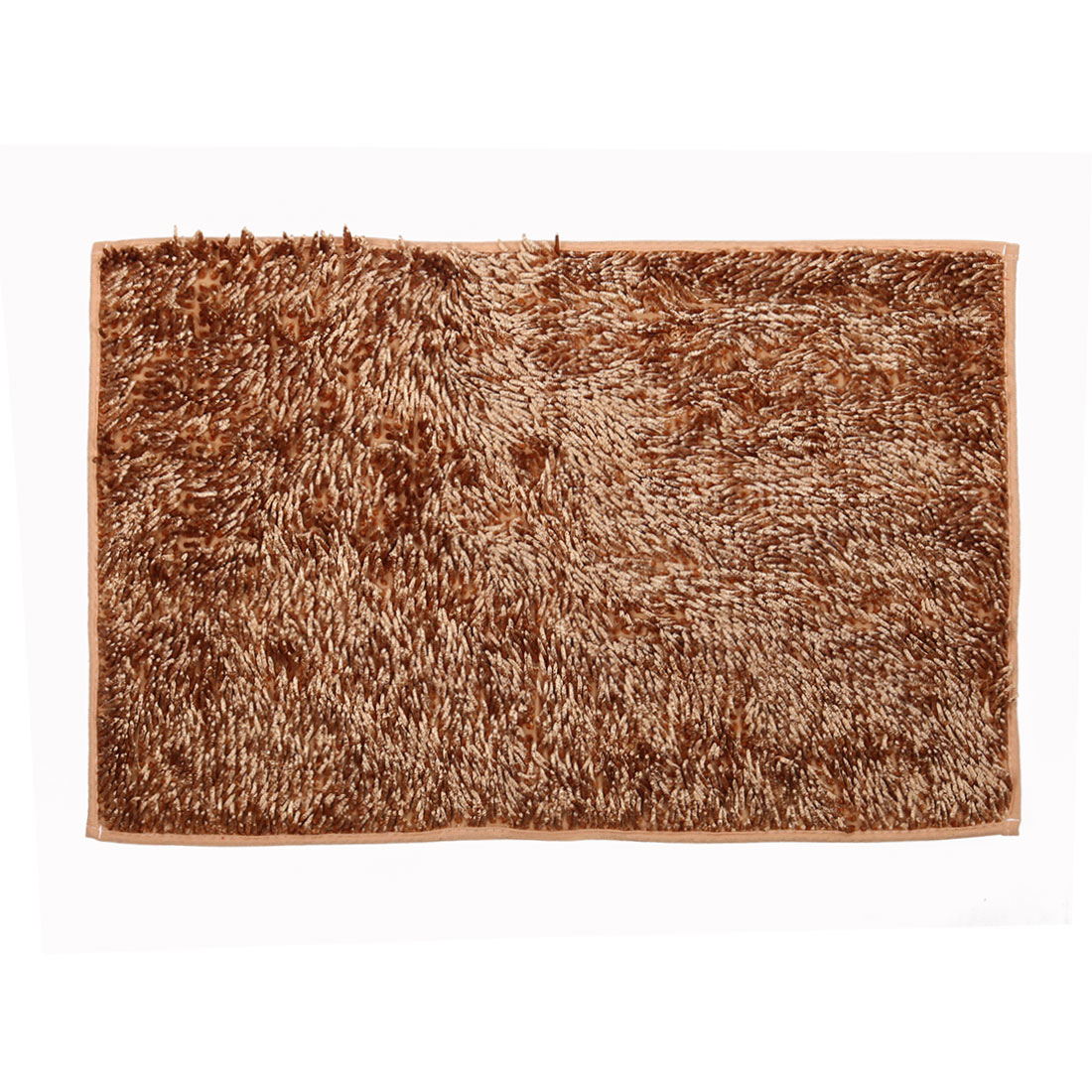 Bathroom Slip Resistant Absorbent Carpet Bath Rug Mat Light Brown 32 x 20 Inches