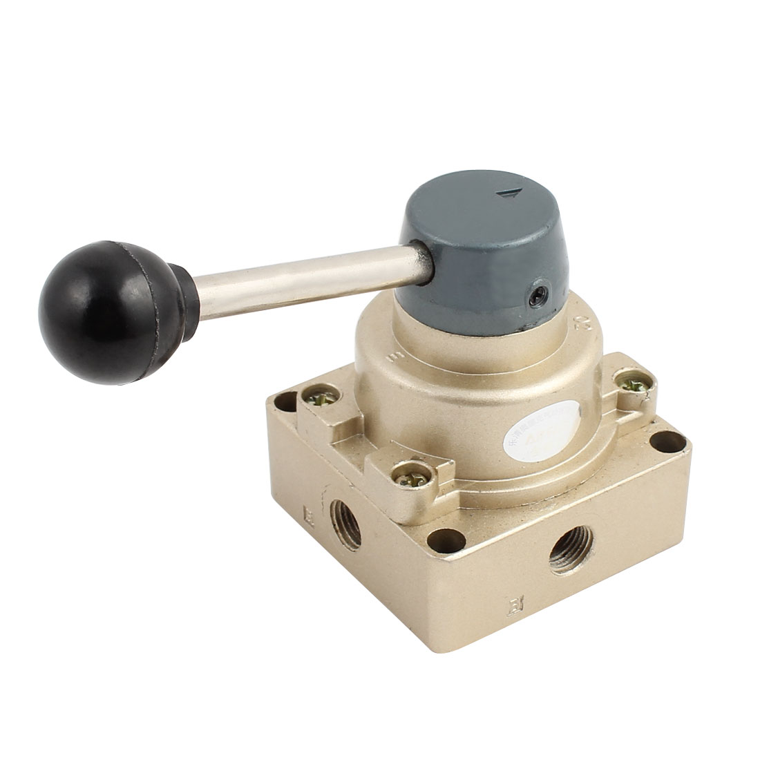 Manual Pneumatic 3 Positions 4 Ports 1/4BSP HV-02 Hand Operated Lever Air Valve