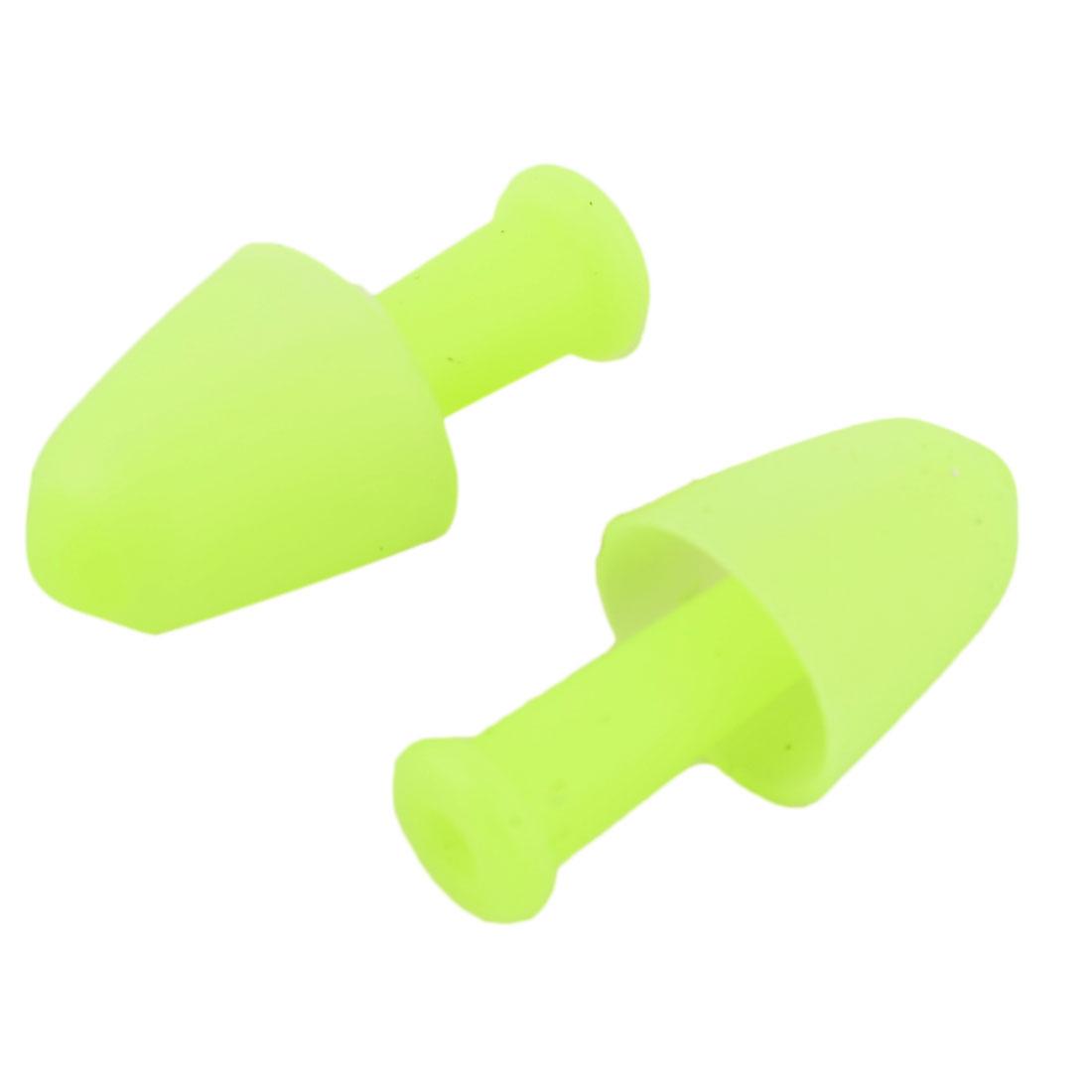 Adult Soft Silicone Swimming Waterproof Earplug Ear Protector Teal Pair