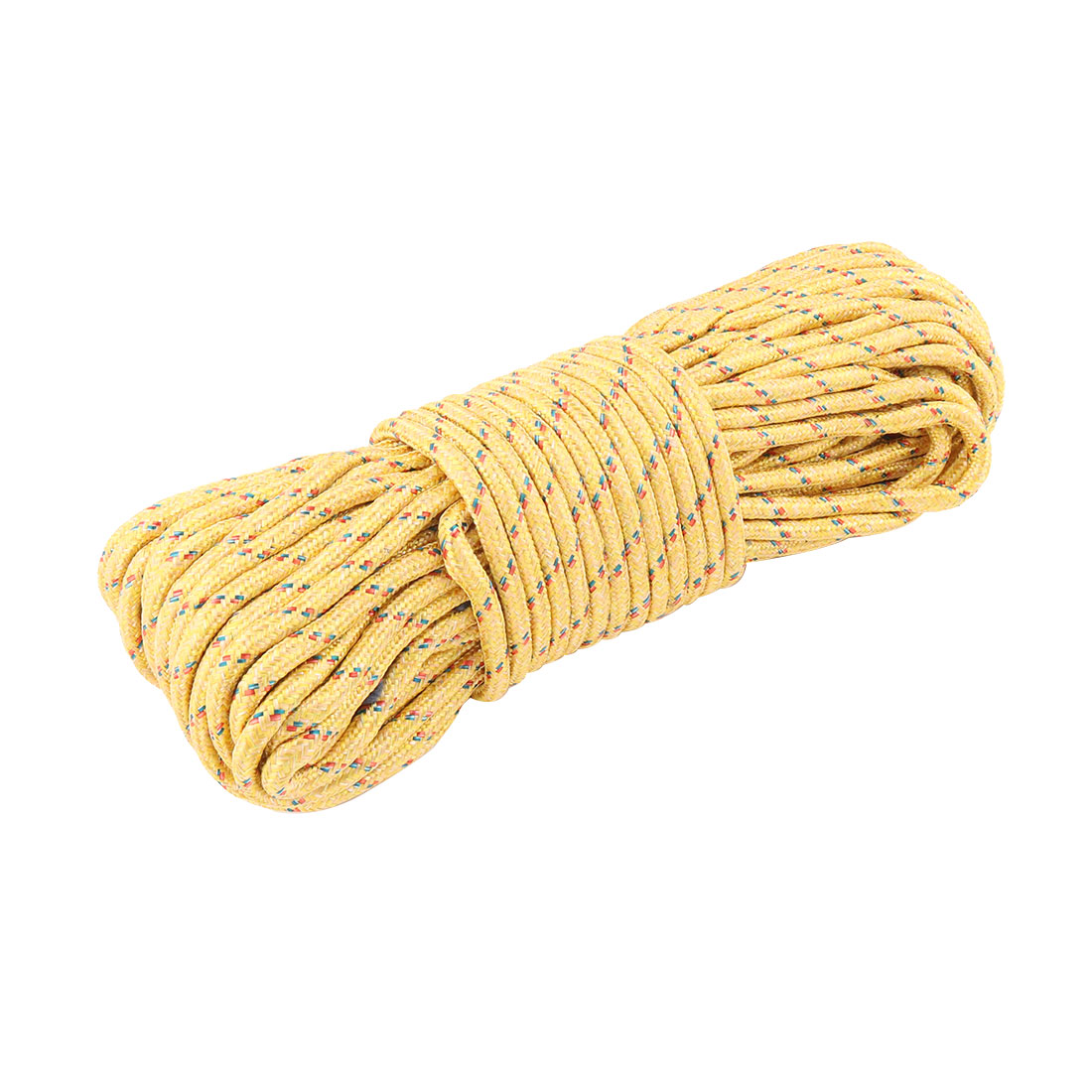 Household Outdoor Nylon Hanging Windproof Clothes Rope String Line Clothesline Yellow 28m Long
