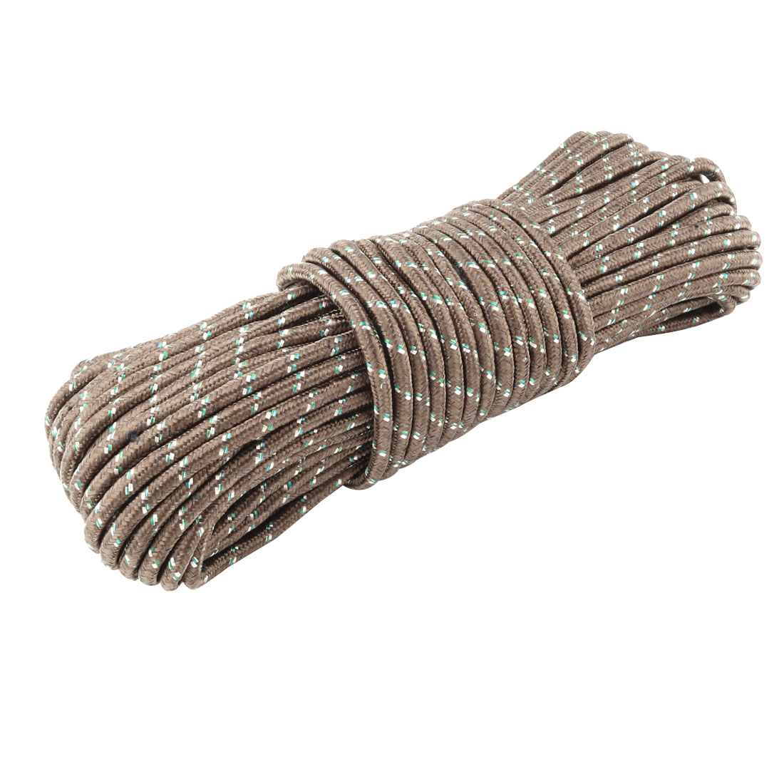 Household Outdoor Nylon Hanging Windproof Clothes Rope String Line Clothesline Brown 28m Long