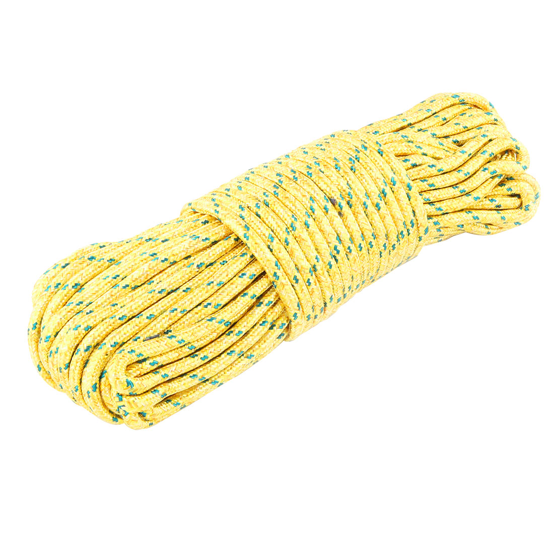 Home Nylon Hanging Nonslip Windproof Clothes Rope Clothesline Yellow 28m Long
