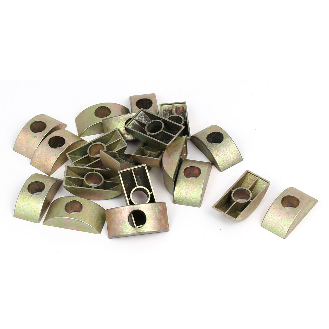 8.5mm Hole Dia Furniture Connector Half Moon Spacers Washer Bronze Tone 20PCS