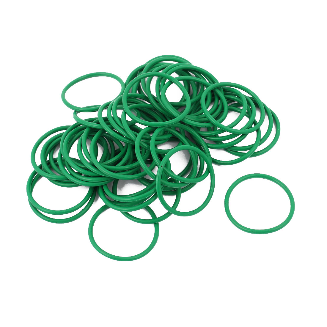 50pcs 1.5mm Thick Heat Resistant Mini Green O-Ring Rubber Sealing Ring 23mm OD