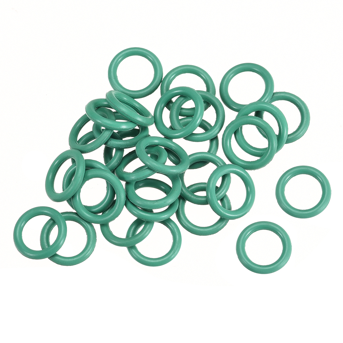 30pcs 1.5mm Thick Heat Resistant Mini Green O-Ring Rubber Sealing Ring 9mm OD