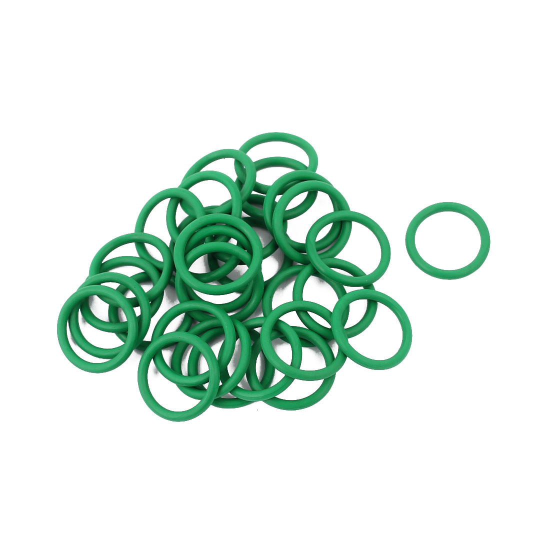 30pcs 1.5mm Thick Heat Resistant Mini Green O-Ring Rubber Sealing Ring 13mm OD
