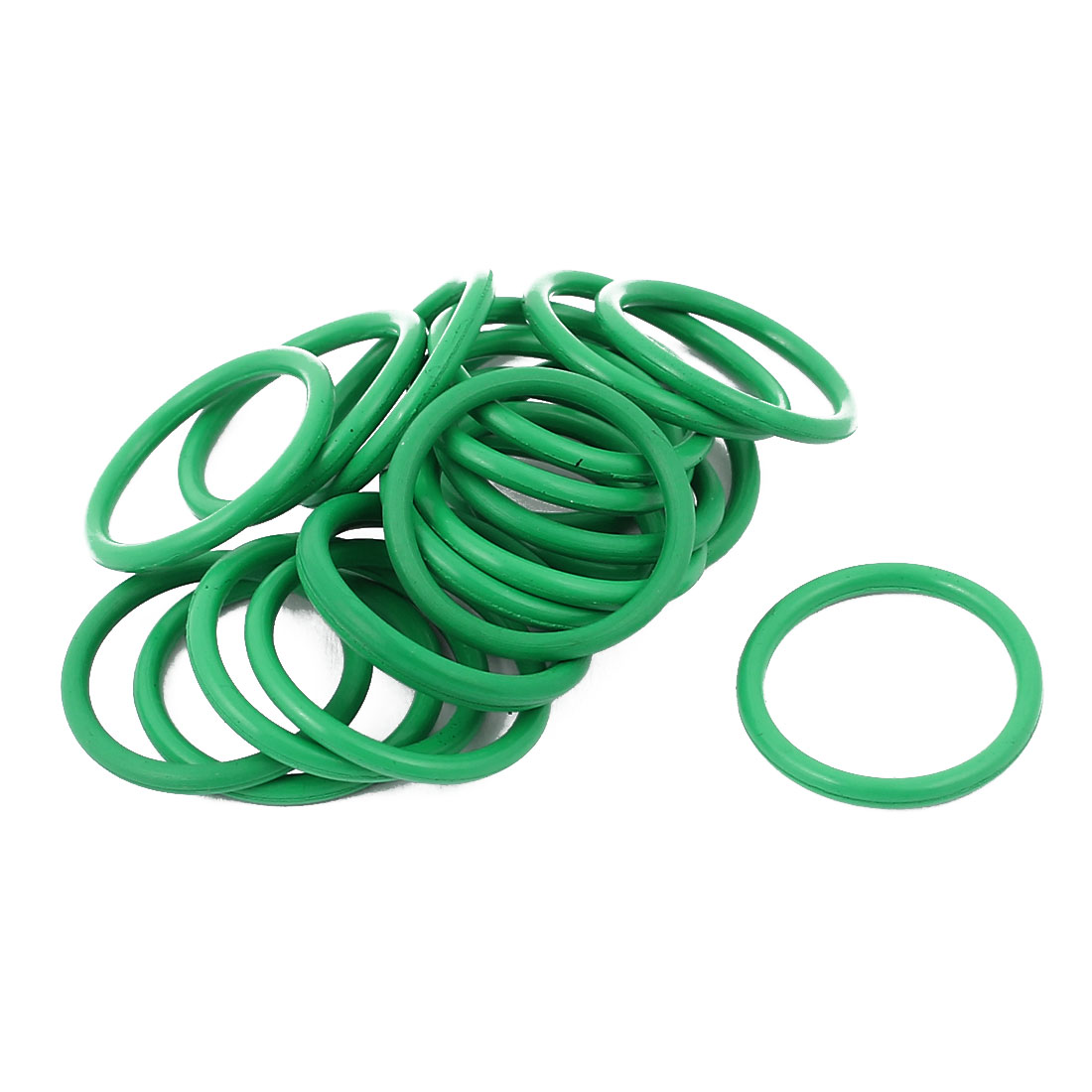 20pcs 1.5mm Thick Heat Resistant Mini Green O-Ring Rubber Sealing Ring 16mm OD